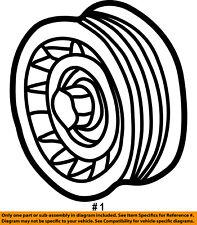 Dodge CHRYSLER OEM 03-08 Ram 2500-Serpentine Drive Belt Idler Pulley 53032131AA