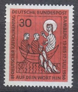 Germany 1965 MNH Mi 515 Sc 961 Miraculous catch of fish.German Catholics **