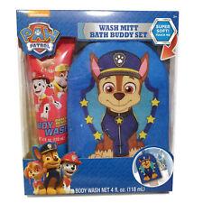 Nickelodeon Paw Patrol Soft Wash Mitt Bath Buddy Set Gift 4oz Kids Body Wash  BA