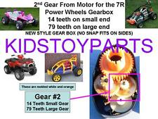 Power Wheels 2nd Second Gear From Motor  EXTREME MACHINE ELIMINATOR BRUTE FORCE