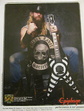 Zakk Wylde, Black Label Society, Epiphone Guitars, Full Page Promotional Ad