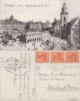Ansichtskarte Frankfurt am Main Hauptwache an der Zeil gel. 1920