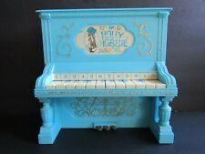 "Holly Hobbie Toy Blue Piano-Plastic-1976 Durham Industries Hong Kong-9"" x 9.25"