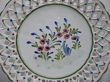 """Vintage RCCL PORTUGESE Pottery PLATE Pink Flowers 9"""""""
