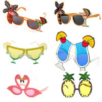 Hawaiian Tropical Sunglasses Glasses Summer Party Fancy Dress Costume Womens New
