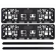2 x universal EU kurz KFZ Kennzeichenhalter schwarz Nummernschildhalter 460 x110