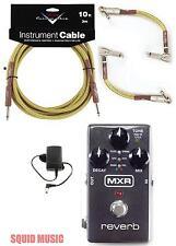 MXR Reverb M300 Relay True Bypass (10' & 2 FENDER CUSTOM SHOP TWEED PATCH CORDS)