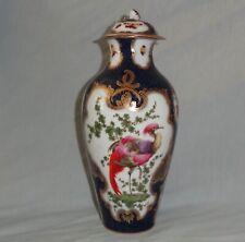 More details for samson porcelain vase : worcester style scale blue & exotic birds