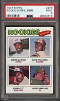 1977 Topps #473 Andre Dawson Rookie RC Rookie Outfielders PSA 9 Mint