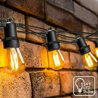 52.5ft Outdoor Garden String Lights LED,OxyLED IP65 Waterproof LED String