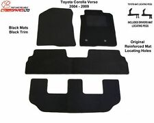 Fully Tailored Car Mats +clips for a Toyota Corolla Verso 2004 to 2009