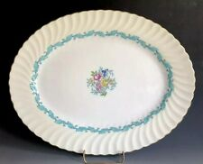 "Minton Ardmore Ivory And Turquoise 15"" Oval Serving Platter S363 Made In England"
