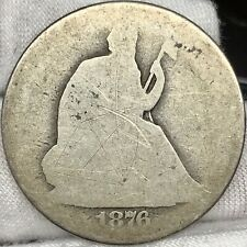 1876-CC 50C Seated Half Dollar ||| Problem Free, Great Looking Early US Silver!