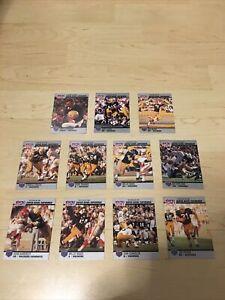 11 x GREEN BAY PACKERS SUPER BOWL SUPERMEN 1990 NFL PRO SET 25 YEAR CARD SET VGC