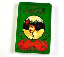 Coca Cola Coke Spielkarten Karten USA Playing Cards - Lady mit Hut grün