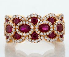 Bony Levy 18k Rose Gold Ruby & Diamond Ring Retails for $6250