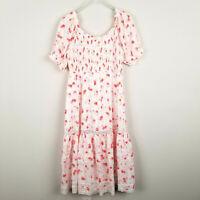 LoveShackFancy Target Cosette Puff Sleeve Midi Cottagecore Dress Floral Size L
