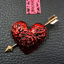 Hot Betsey Johnson Fashion Jewelry Beautiful Enamel Love Heart Cute Brooch Pin