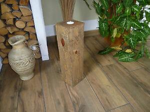 Teelichthalter rustikale Stele
