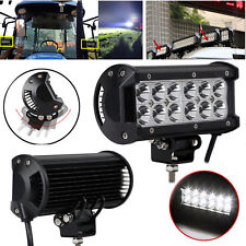 2 x 36W Rectangle LED Work Light Lamp Flood Beam For Digger Tractor Jeep Offroad
