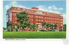 Wesley Hospital Wichita Kansas 1918 Unused Postcard