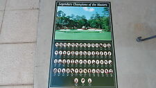 Legendary Champions Of Masters Golf Tournament Poster 37x24 (1934 -1995)