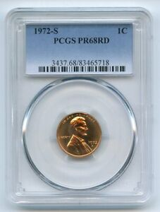 1972 S 1C Lincoln Cent PCGS PR68