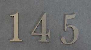 Hausnummer Zahlen Nummern Buchstaben Edelstahl exklusiv hochwertig 0,3 cm Dicke