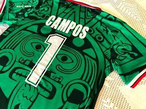JORGE CAMPOS #1 Mexico 1998 NEW Jersey XL RETRO France Home ABA SPORT Pumas