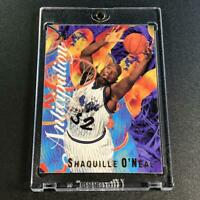 SHAQUILLE O'NEAL SHAQ 1995 FLAIR #7 ANTICIPATION EMBOSSED FOIL INSERT CARD NBA