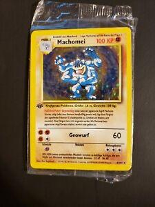 SEALED!! NEW!! Machomei 8/102 1st Edition HoloFoil Rare Pokémon Machamp German