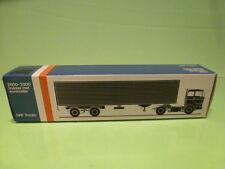 LION CAR 59 DAF TRUCKS 2800-3300 EUROTRAIL - 1:50 GOOD - * ONLY EMPTY BOX * (14)
