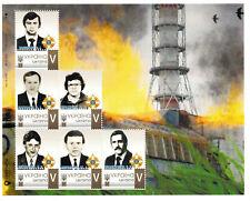 Ukraine 2019, Chernobyl disaster Heroes, sheet of 6v