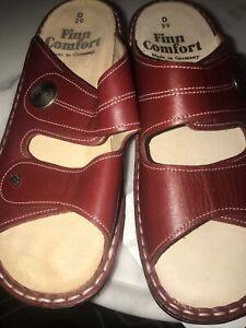 finn comfort sandals 39  Red NWOB