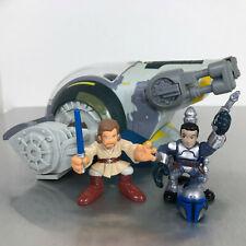 Star Wars Galactic Heroes JANGO FETT & SLAVE 1 complete Kamino set w/Obi-Wan