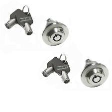 Lot of 2  Homak safe lock Gun Toolbox Cabinet Keyed Alike w/ black key cover