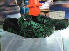 Android Homme Accelerator Pony Hair Driving Mocassins Green Camo & Black size 10