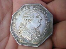 RARE 1700s Jeton Argent Louis XVI Tresor Royal Sterling Silver France Coin Token