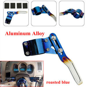 70MM Car Steering Wheel Support Rod Extension Rack Aluminum Alloy Roasted Blue