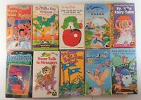 Lot of 10 VHS Tapes Movies Favorite Fairy Tales Beauty and the Beast Dr. Seuss