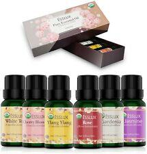 Huiles Essentielles Bio Aromathérapie Naturelle 100% Pures 6 * 10ml,