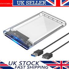 "ORICO 2.5"" USB 3.0 External SATA Hard Drive HDD /SSD Enclosure Transparent Case"