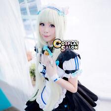 "Lolita 40"" Long White Straight Anime NEKOPARA Vanilla Women Party Cosplay Wig"