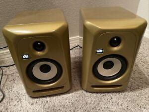 "2 KRK ROKIT 5 CL5 G3 5"" Active Powered Bi-Amped Studio Monitor Speaker Gold"