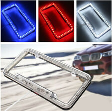 Universal 54 LED Car Number License Plate Tag Frame Light Holder Cover White 12V