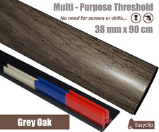 Grey Oak Laminate Transition Door Strip 38mm x 0.90mtr Multi-Height and Pivot