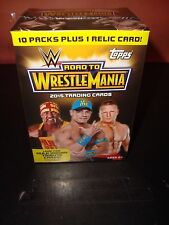 4 Blaster Boxes 2015 Topps WWE Road to Wrestlemania 1 Relic per