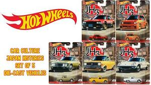Hot Wheels Set of 5 PREMIUM Car Culture Japan Historics Die-Cast Vehicles FPY86