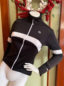 Pearl Izumi Women's Cycling Jacket/Jersey  ~ Black White ~ Thermal Elite Series