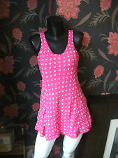 Abercrombie & and Fitch Pink Polka Dot  Dress size Small  - RRP £78 FREE UK Pp
